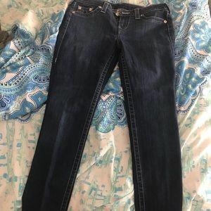 True religion jeans dazzled back pockets